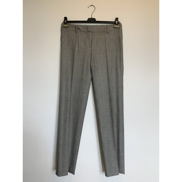 BOSS HUGO BOSS 7/8 Length Trousers white-black wool