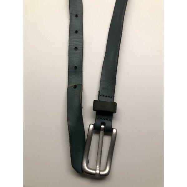 Liebeskind Leather Belt petrol-cadet blue