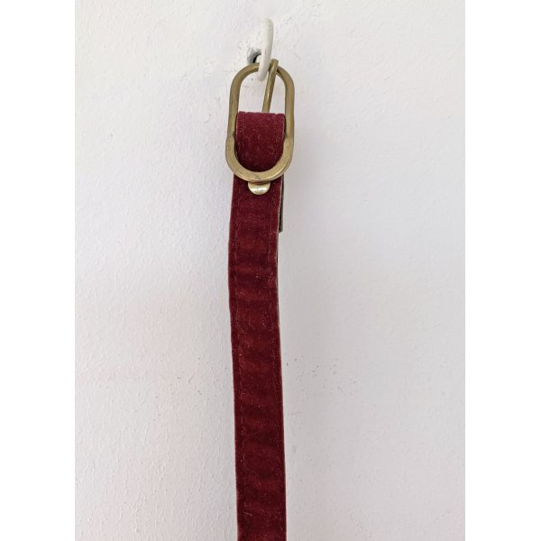 no name Faux Leather Belt dark red mixture fibre
