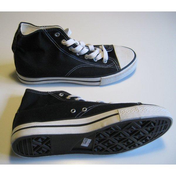 Schnür Sneaker Hi-Top Reject Schwarz Größe 40