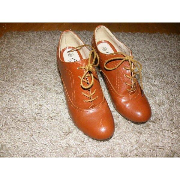 schöne braune Ankle Boots, Größe 38