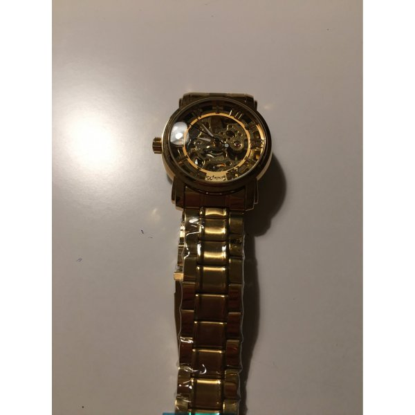 Schöne goldene Damen Armband Uhr Automatik