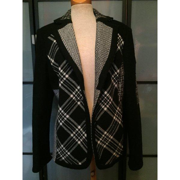 Schöne leichte schwarz/weiße Jacke gr. 42 von Steilmann