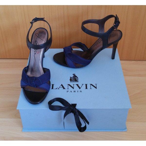 Schöne Sandalen von Lanvin in schwarz-blau
