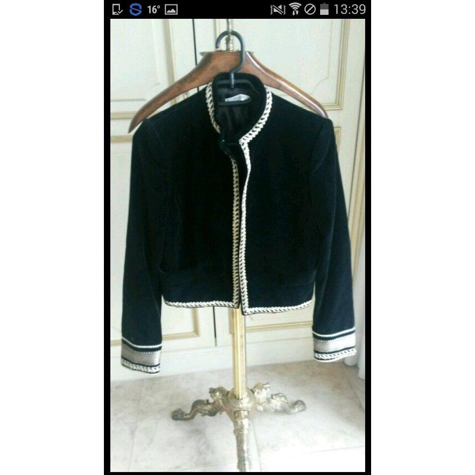 Schöne schicke blazer/jacke schwarz samt  wie neu!