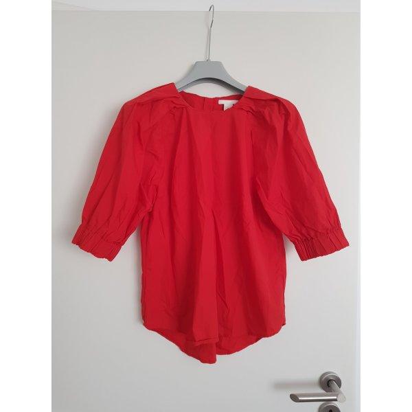 Schöne Stoffbluse Bluse in rot  Gr. 40 von H&M