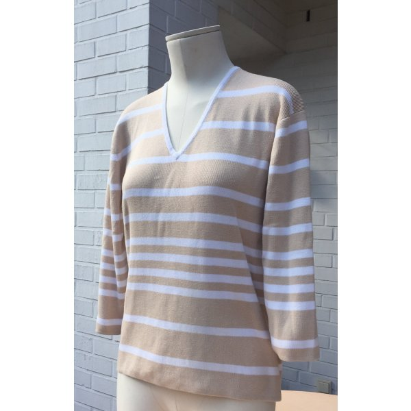 Schöner V-Ausschnitt Pullover mit Streifen