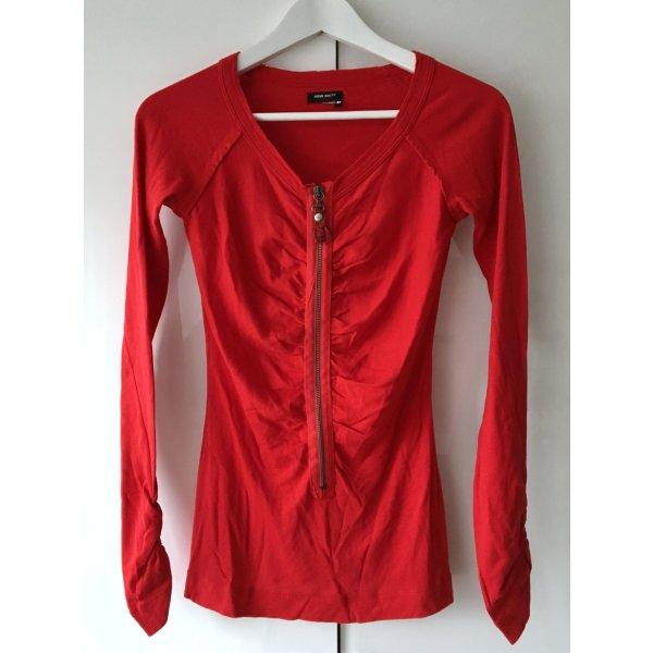 Schönes Langarm Shirt rot von Miss Sixty Gr. XS