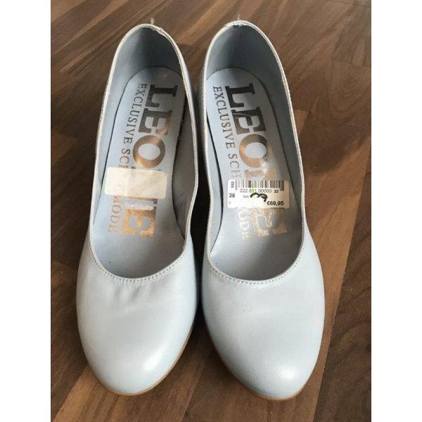 Schuhe Pumps hellblau Pastell Gr. 38 NEU