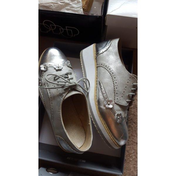 Schuhe Silber