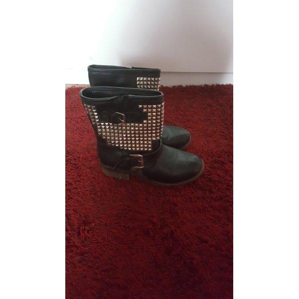 schuhe stiefel schwarz 36 mit nieten