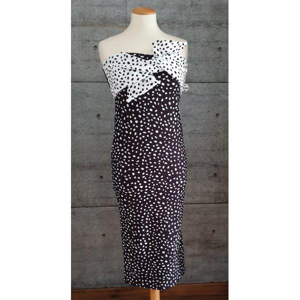 schulterfreies Kleid mit Schleife