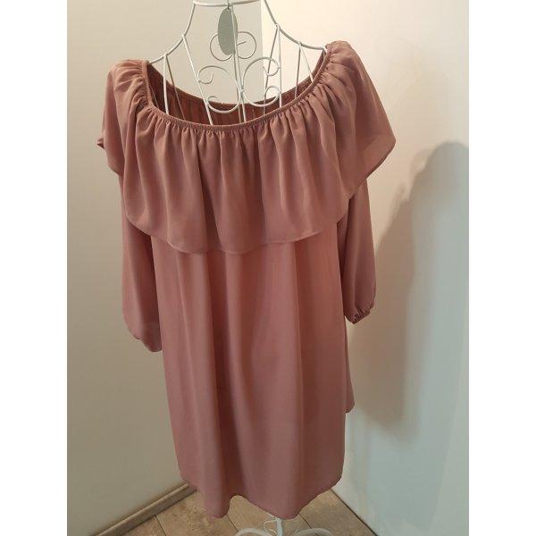 Glamorous Off the shoulder jurk stoffig roze