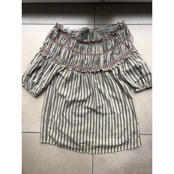 Schulterfreies Strandkleid aus Baumwolle