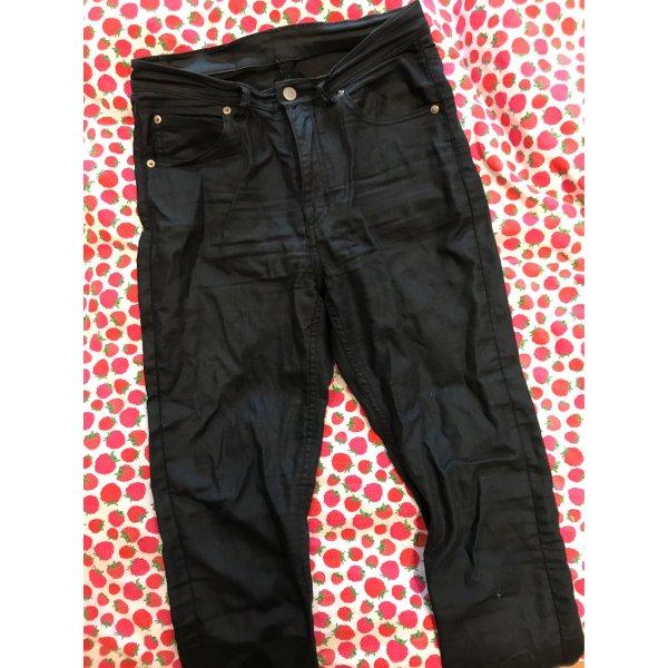Schwarze beschichtete Jeans von Cheap Monday High Waist skinny