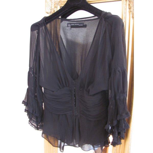 Schwarze Bluse in Gr. S
