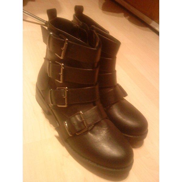 schwarze Boots Stiefel Größe 40