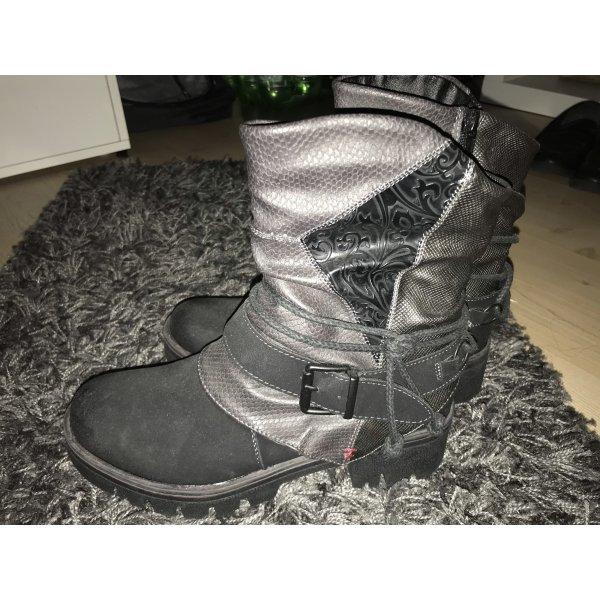 Schwarze Esprit Stiefel in Lederoptik GR.38