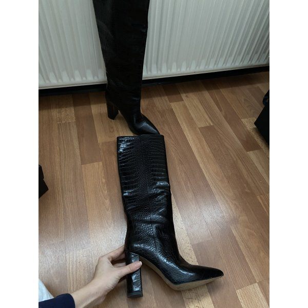 "Schwarze italienische Stiefel ""Bianca Di"""