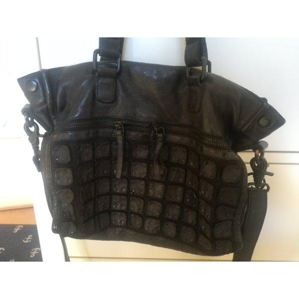 Schwarze Lederhandtasche von Legend