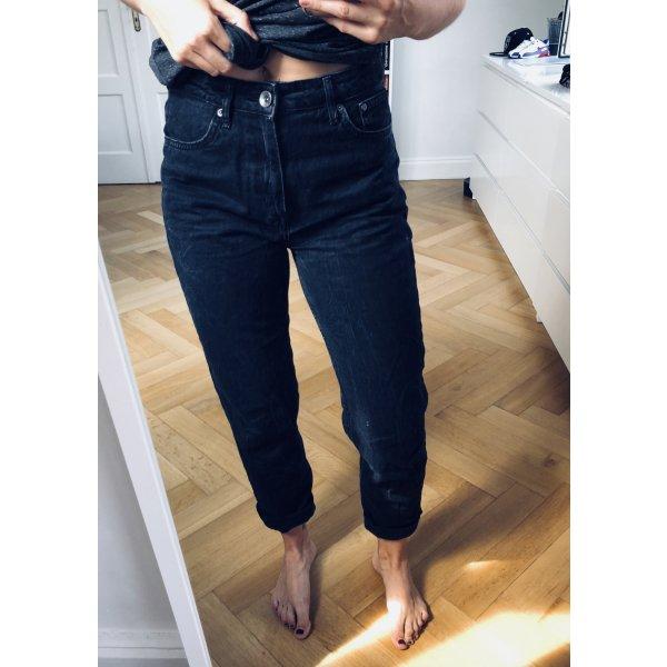 Schwarze Mom Jeans High Waist