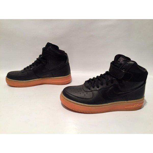 Schwarze Nike Air Force 1 Hightop Sneaker Gr.36,5