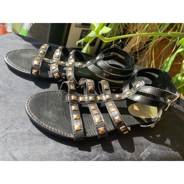 Schwarze Römer Sandalen