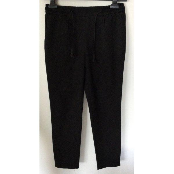 Schwarze Schlupfhose von Zara Gr XS