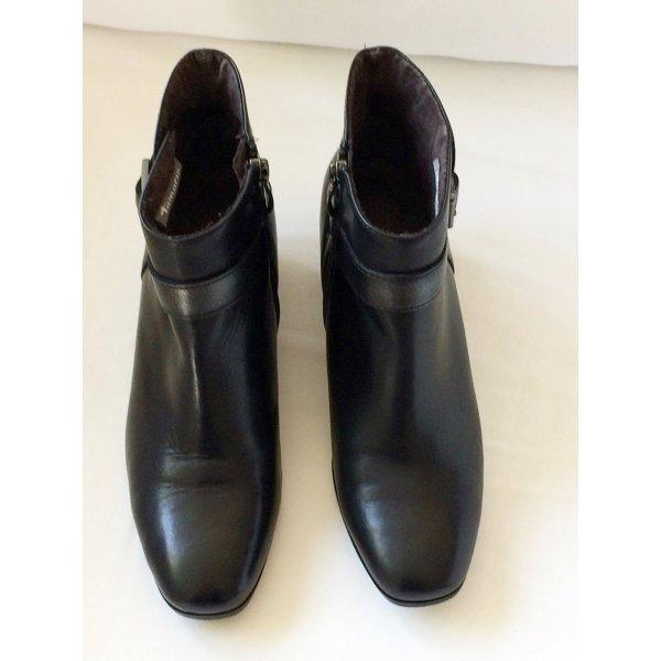 Schwarze Tamaris Leder Stiefeletten Ankle Boots Größe 37 neuwertig