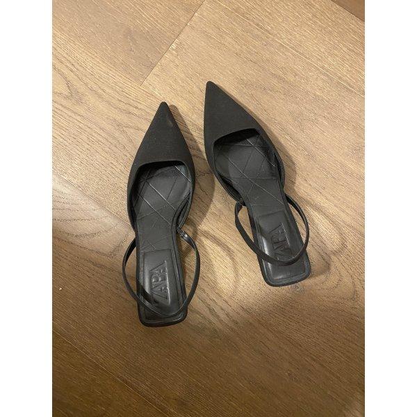 Schwarze Zara Sling back Schuhe