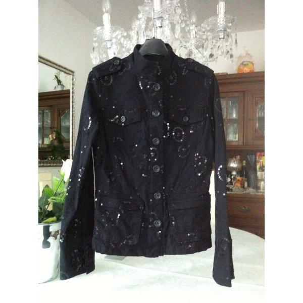 Schwarzer Blazer/Jacke mit schwarzen Pailletten der Marke ORSAY