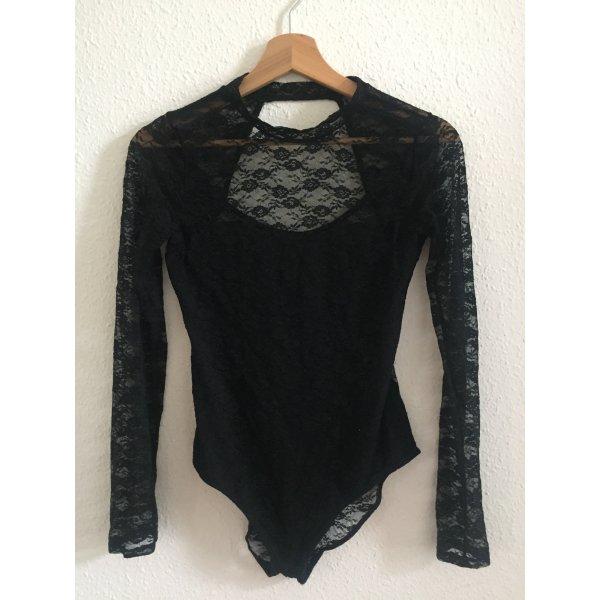 H&M Blusa tipo body negro