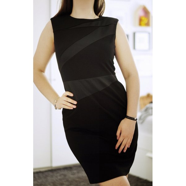 schwarzes Businesskleid Etuikleid - DKNY