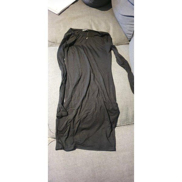 Schwarzes Long Shirt Gr. 36