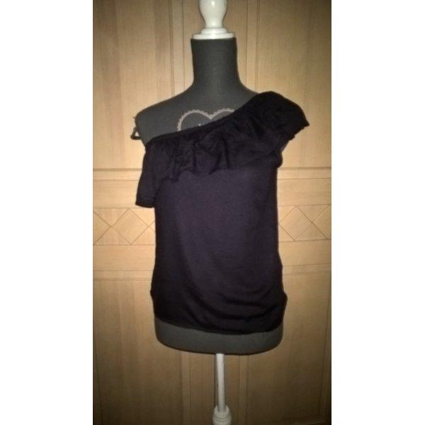 schwarzes One- Shoulder Top