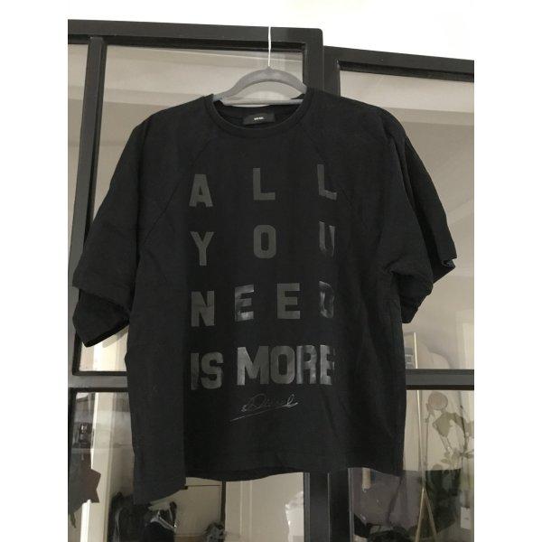 Diesel Koszulka oversize czarny