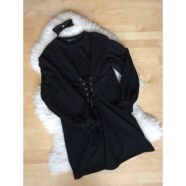 Schwarzes Pullover Kleid
