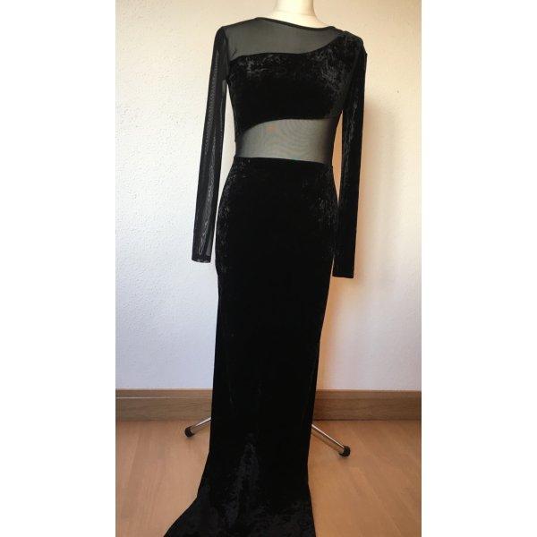 Schwarzes Samtkleid- Abendkleid oder Ballkleid