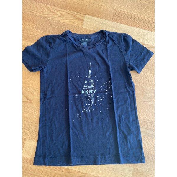 Schwarzes Shirt mit new york Look von DKNY