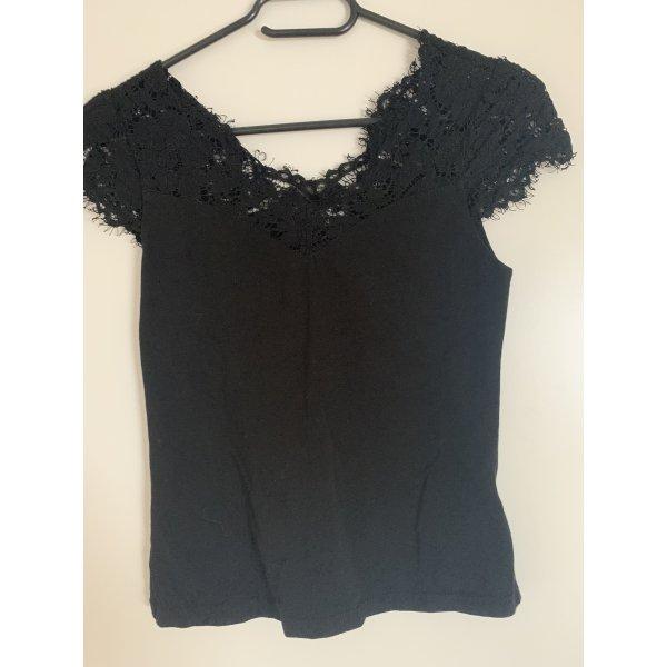 Schwarzes Spitzen Tshirt