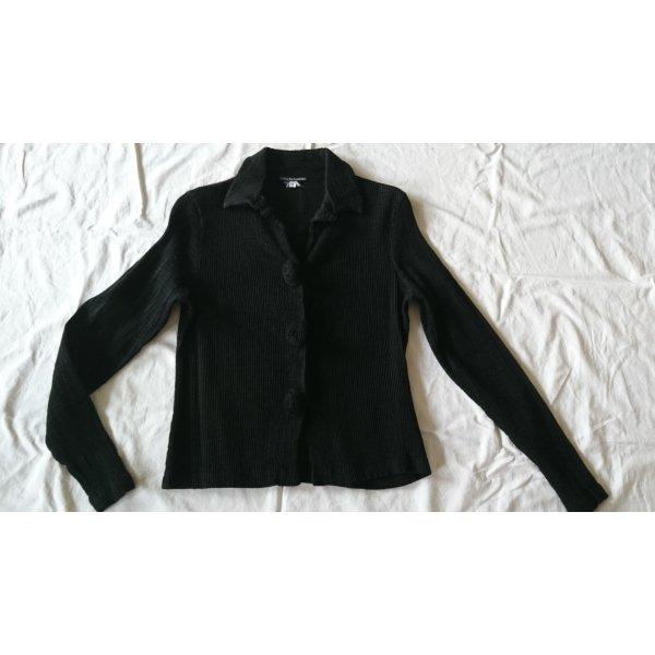 zeitlos by luana Veste chemise noir tissu mixte