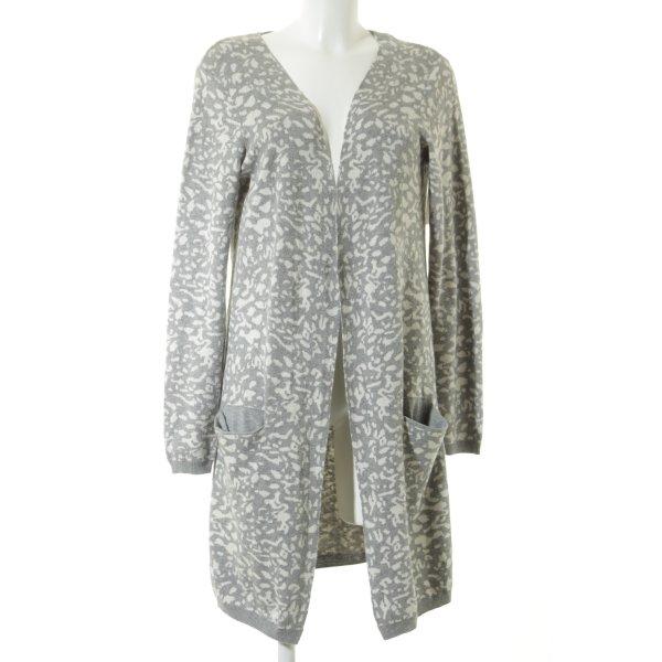 Second Female Cardigan grigio chiaro-bianco modello misto stile casual