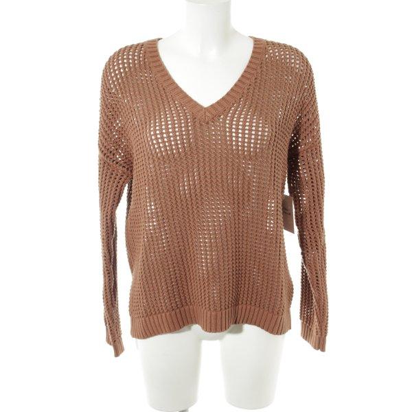 Second Female Pullover a maglia grossa ruggine modello web stile casual