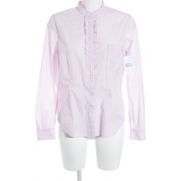 Seidensticker Camisa de manga larga rosa-blanco estampado a rayas