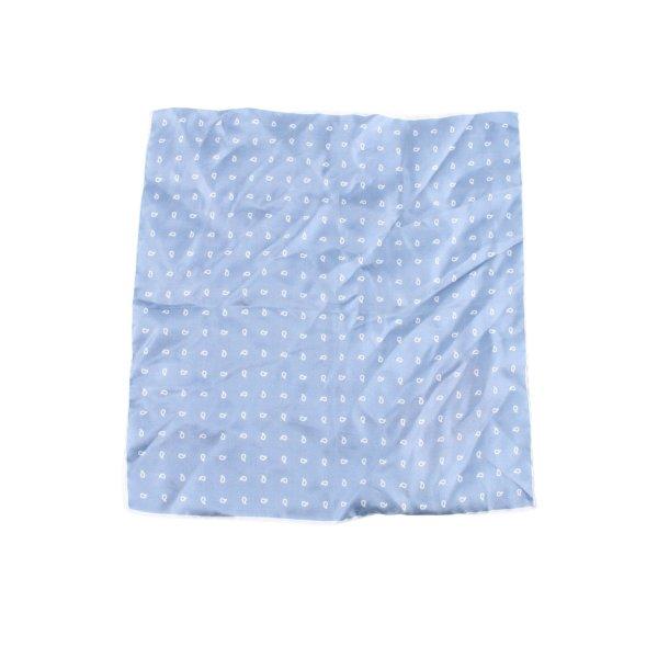 Jedwabna chusta niebieski-biały Na całej powierzchni W stylu casual