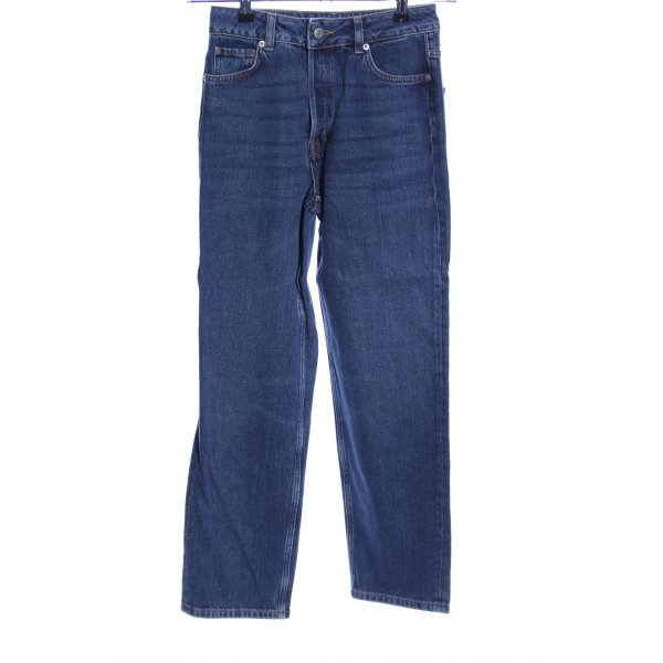 Selected Femme Straight-Leg Jeans blau Casual-Look