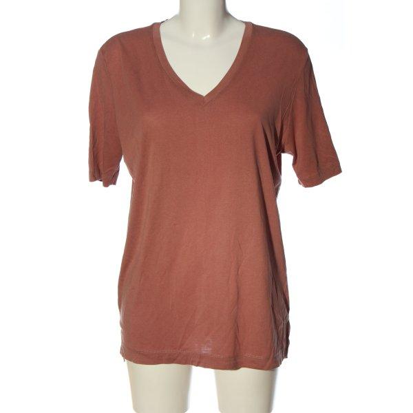 Selected V-Ausschnitt-Shirt braun Casual-Look