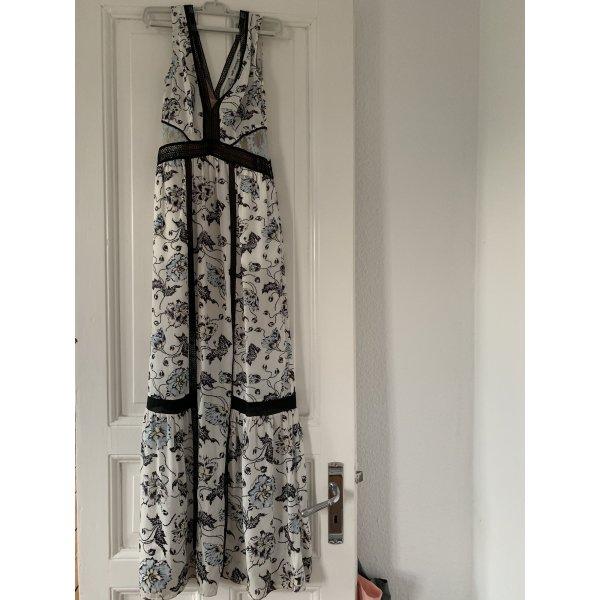 Self Portrait Clarissa Maxi Dress Weiß Blumen-Kleid Spitzenkleid UK 6 34 geblümt