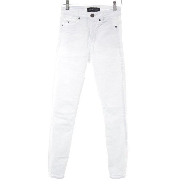 Selfnation Skinny Jeans weiß Casual-Look