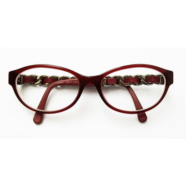 Seltene Chanel 3223Q c.539 Bordeaux 53mm Brille Korrektionsbrille
